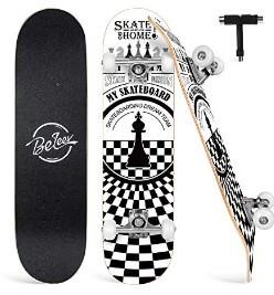 """Beleev 31"""" Cruiser Skateboard- Best For Heavy Riders"""