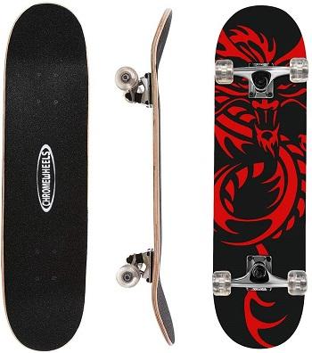ChromeWheels Double Kick Skateboard
