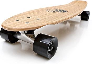 White Wave Bamboo Skateboard